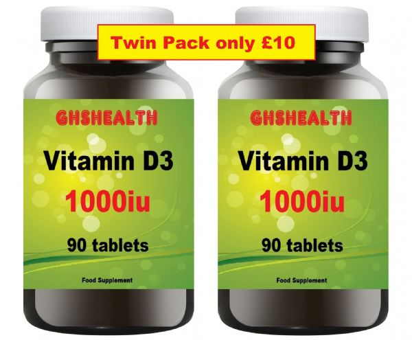 Vitamin D3 90+90 = 180 Tablets Special Banded Pack